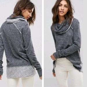 Free People Beach Cocoon Cowl Neck Sweatshirt